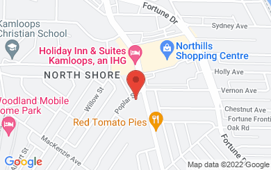 Map to Roman Catholic Diocese of Kamloops in Kamloops, BC